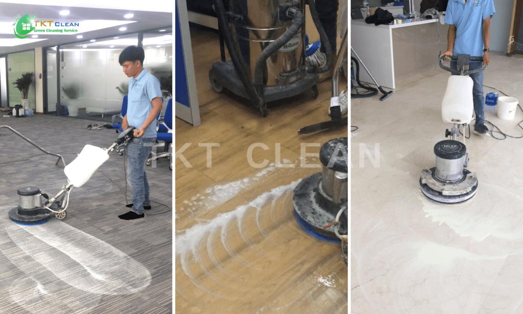 Dịch vụ vệ sinh sàn văn phòng chuyên nghiệp