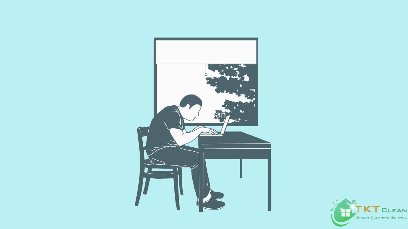 đảm bảo tư thế khi làm việc tại nhà